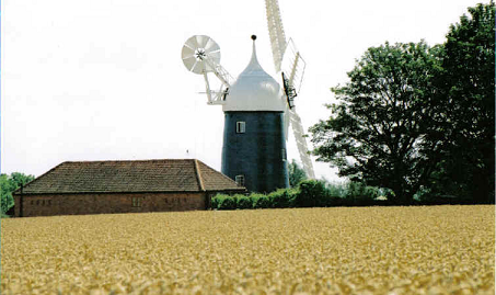 Tuxford Mill Exterior Wheat Field by Jonathan McGuinness