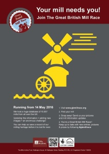 Great British Mill Race_Launching 14 May 2016 poster